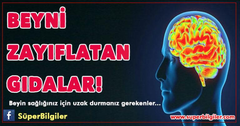 Beyni zayıflatan gıdalar…