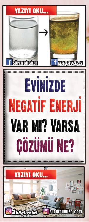 Evinizde Negatif Enerji Var mı? Varsa Çözümü Ne? Evinizde negatif enerji var mı yok mu merak ediyorsanız işte size çözümü... Negatif enerjiler kimi zaman evimize gelen kişilerden, kimi zaman da yaşanılan olaylardan dolayı oluşabilir...Oluşan negatif enerji evimizi olumsuz etkiler.