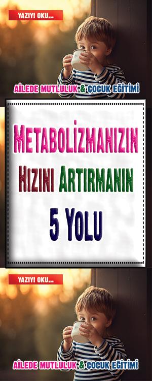 Metabolizmanızın Hızını Artırmanın 5 Yolu Genel sağlığınızı iyileştirmek ve etkili bir şekilde kilo vermek için metabolizmanızı hızlandırmanız gerekir.Yavaş bir metabolizma kilo vermeyi zorlaştırır.Metabolizmanızın maksimum hızda çalışması için yardımcı bazı yöntemler aşağıda verilmiştir.