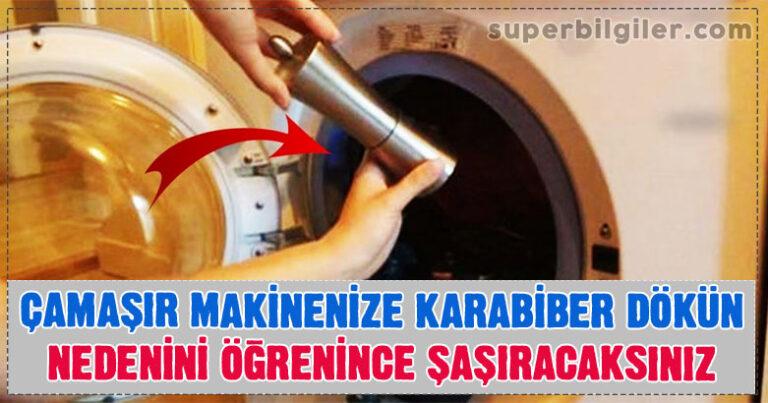 Çamaşır Makinenize Karabiber Dökün – Nedenini Öğrenince Şaşıracaksınız