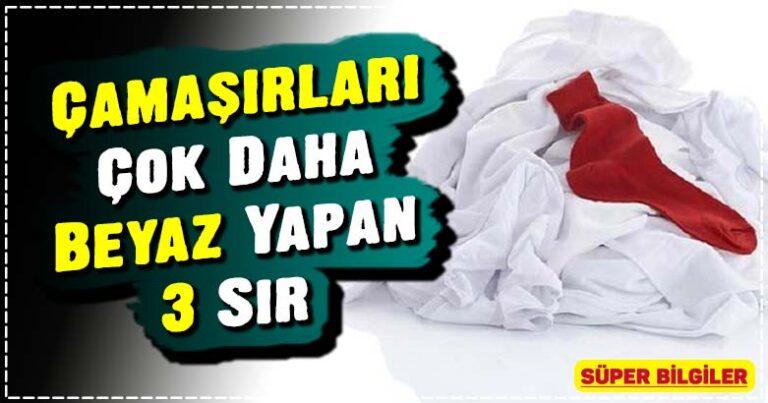 Çamaşırları Çok Daha Beyaz Yapan 3 Sır