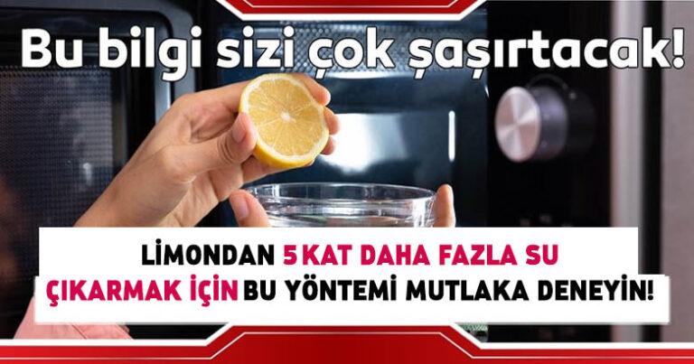 Limondan 5 kat daha fazla su çıkarmak için…