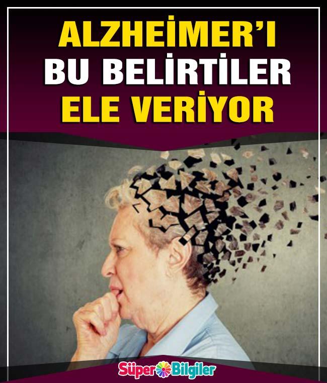 Alzheimer'i bu belirtiler ele veriyor 2
